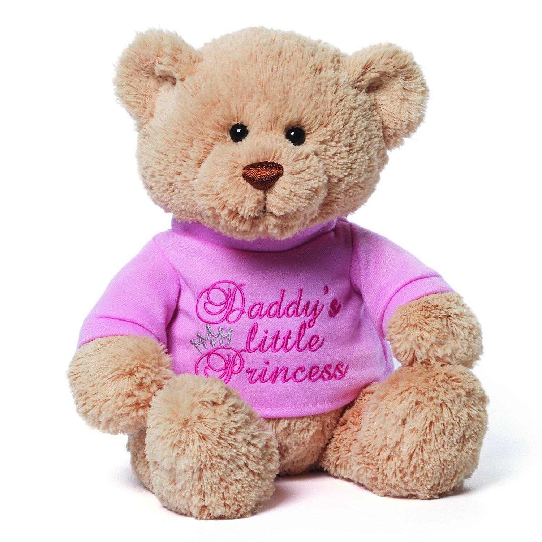 Gund 4048274 Daddy S Little Princess T Shirt Teddy Bear Stuffed