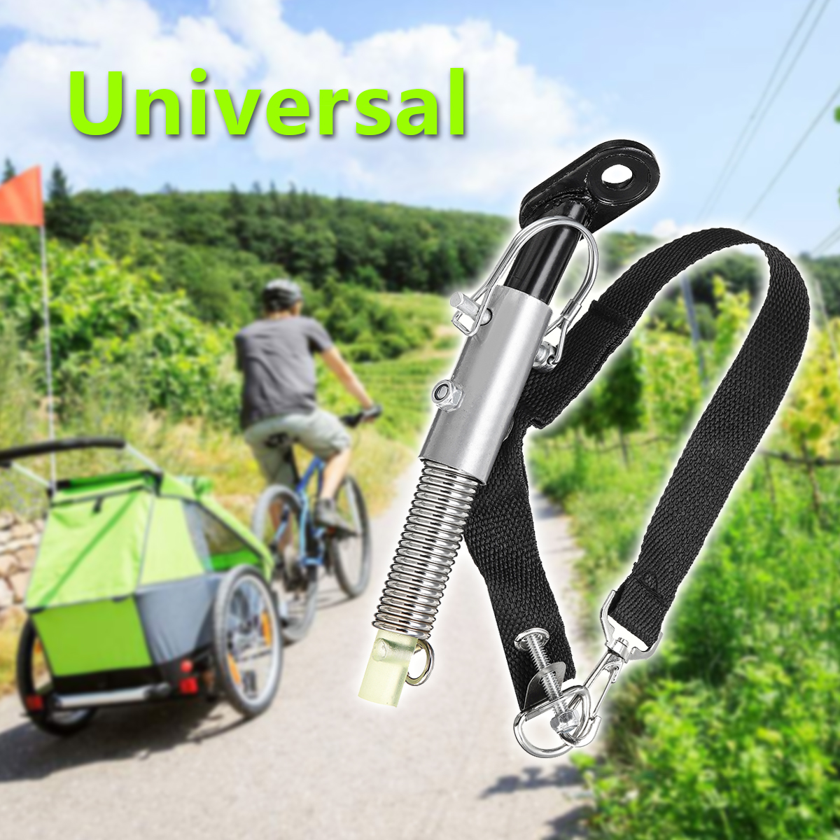 Bike Trailer Hitch Quick Release Steel Linker  Adapter for Bike Truck Bicycle