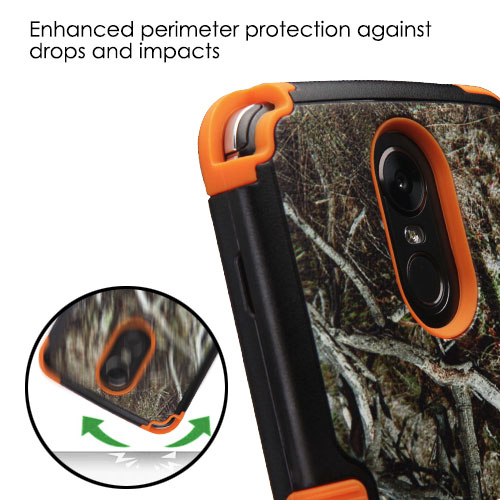 LG Stylo 3 / LS777, Stylo 3 Plus, MP450, TP450 Phone Case Tuff Hybrid Shockproof Impact Armor Rubber Dual Layer Hard & Soft Protective Rugged Hard Case Cover - Vine Tree Camo Camouflage