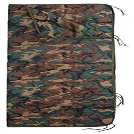 Woodland Camouflage - GI Type Ripstop Poncho Liner With - Army Poncho Liner