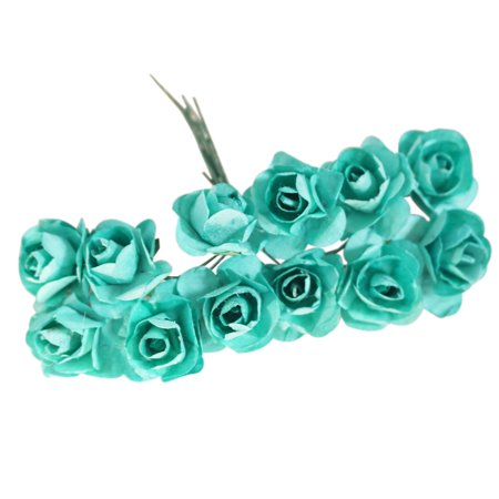 12Pcs/Bunch 2.5mm Artificial Paper Flowers for Wedding Car Fake Roses Used For Candy Box DIY Wreath Handmade Decoration](Flowers And Candy)