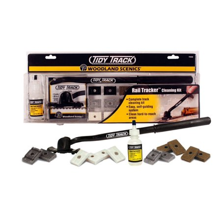 TT4550 Tidy Track Rail Tracker Cleaning Kit WOOU4550Woodland Scenics part number TT4550; UPC 0724771045502 By Woodland Scenics