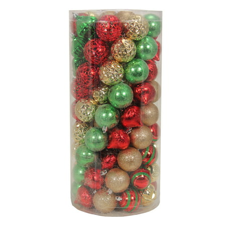 Holiday Time 101 Traditional Shatterproof Ornaments