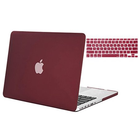 Eco Drive Rose - Mosiso Retina 13-Inch 2 in 1 Soft-Touch Plastic Hard Case and Keyboard Cover for MacBook Pro 13.3