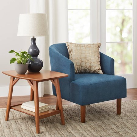 Better Homes & Gardens Reed Mid Century Modern Accent Chair, Multiple Colors