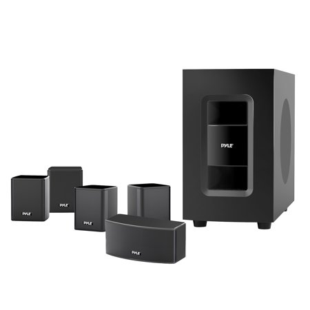 5.1 Channel Home Theater Speaker System - Active Subwoofer & Surround Sound Speakers