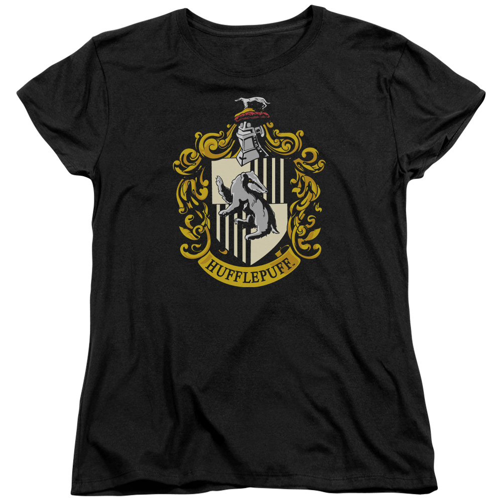 Harry Potter Hufflepuff Crest Womens Short Sleeve Shirt