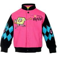 Girl's SpongeBob Square Pants WAH HOO Snap-Up Jacket