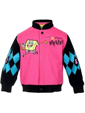 Girl's SpongeBob Square Pants WAH HOO Snap-Up Jacket
