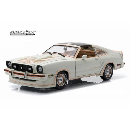 1978 Ford Mustang II King Cobra T-Top, White with Gold - Greenlight 12939 - 1/18 Scale Diecast Model Toy Car 94 Ford Mustang Cobra Model
