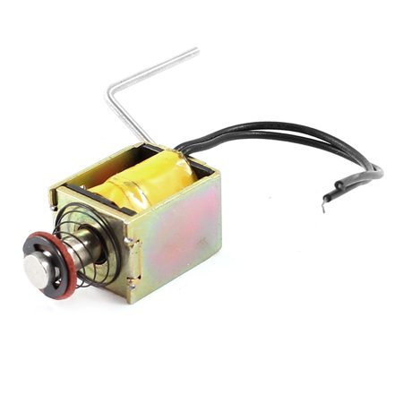 Unique Bargains 18V 0.25A 4.62W 3mm/58g Push Pull Type Open Frame DC Solenoid Electromagnet