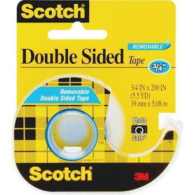 2Pc Scotch Double-Sided Photo-Safe Tape - 16.67 ft Length x 0.75