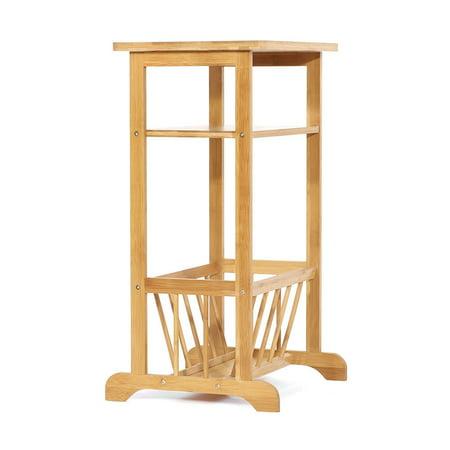 Bamboo Set Sofa - TOPINCN 2 Tier Bamboo Sofa Side End Table Telephone / Coffee / End / Storage Rack