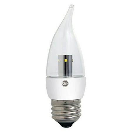 (GE Lighting 23707 LED 4-watt (40-watt replacement), 350-Lumen Bent Tip Bulb with Medium Base, Clear, 1-Pack)
