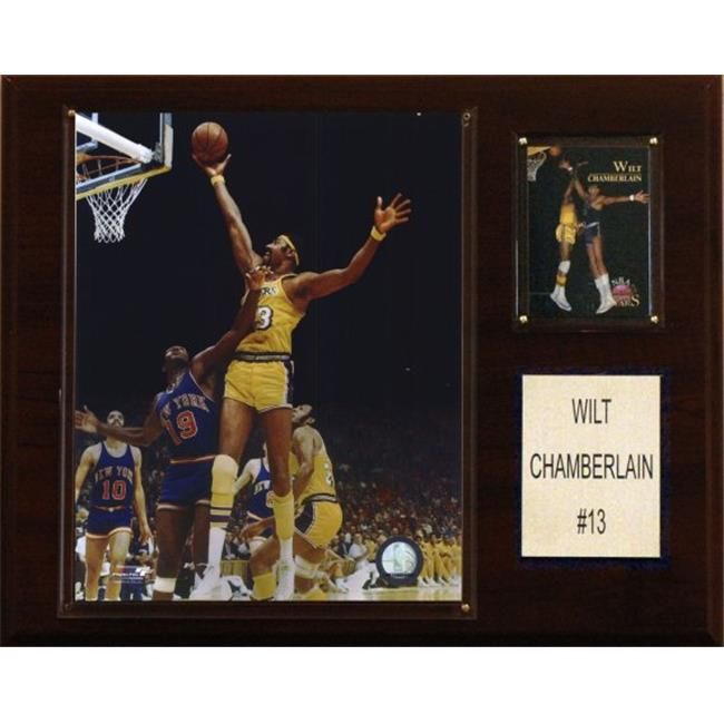 C & I Collectables 1215WILT NBA Wilt Chamberlain Los Angeles Lakers Player Plaque