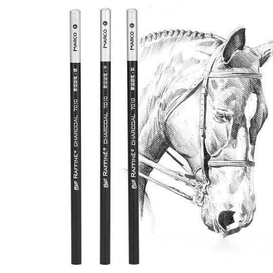 WALFRONT 12pcs/Lot Charcoal Pencil Set Professional Art Drawing Sketching Pencils School Stationery, Sketch Pencil, Art Charcoal Pencil - Walmart.com