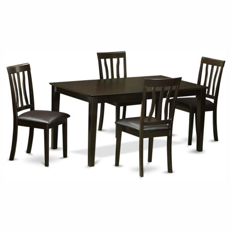 Astounding East West Furniture Capris 5 Piece Rectangular Dining Table Set With Antique Faux Leather Seat Chairs Walmart Com Cjindustries Chair Design For Home Cjindustriesco