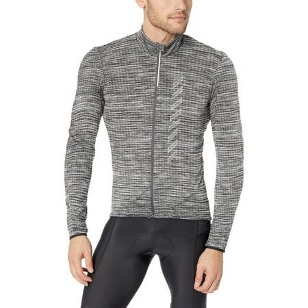 Craft Sportswear Men's Velo 2.0 Bike and Cycling Training Full Zip Long Sleeve Brushed Thermal Jersey Dark Grey Melange X-Large