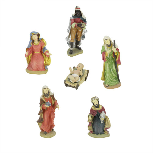 Northlight Seasonal 7 Piece Holy Family and Three Kings Religious Christmas Nativity Statue Set