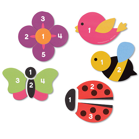 Learning Resources Magnetic Counting Garden Puzzles
