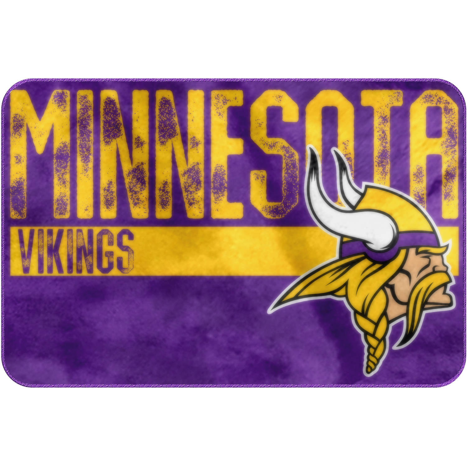 "NFL Minnesota Vikings ""Worn Out"" Mat, 20"" x 30"""