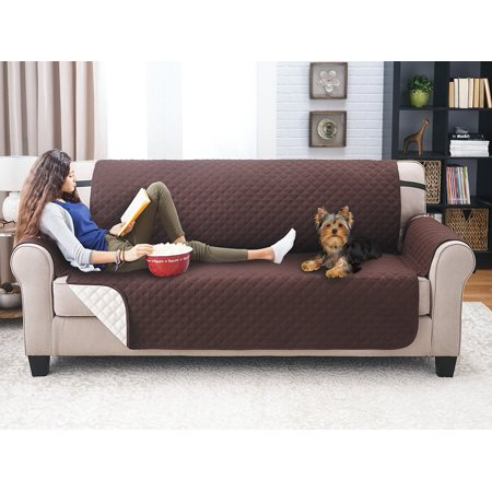 Deluxe Reversible Sofa Furniture Protector Coffee Tan