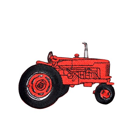 Red Farm Tractor - Iron on Applique/Embroidered Patch