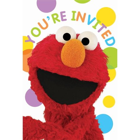 Sesame Street Party Invitations, 8pk - Sesame Street Invitation