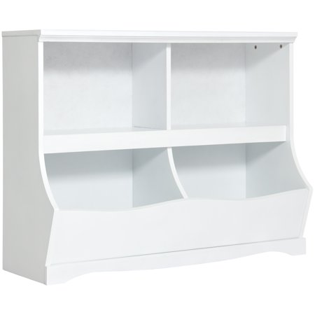Best Choice Products Kids Bookcase Footboard Toy Storage White