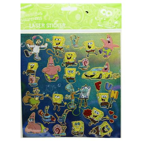 Spongebob Squarepants Assorted Characters Sticker Set (24 - Spongebob 24