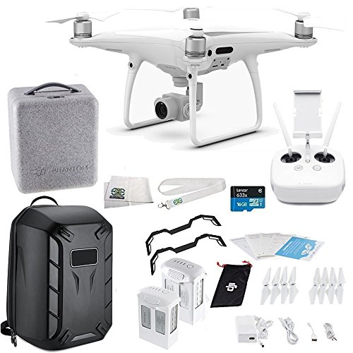 DJI Phantom 4 PRO Quadcopter Essentials Hard Shell Backpack Bundle