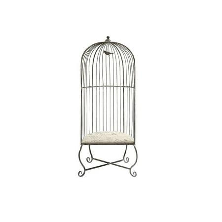 "72"" French Elegance Captured Decorative Birdcage Accent Chair"