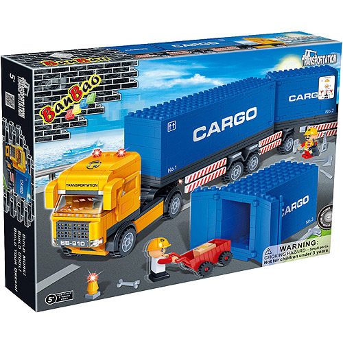 BanBao Container Truck Play Set
