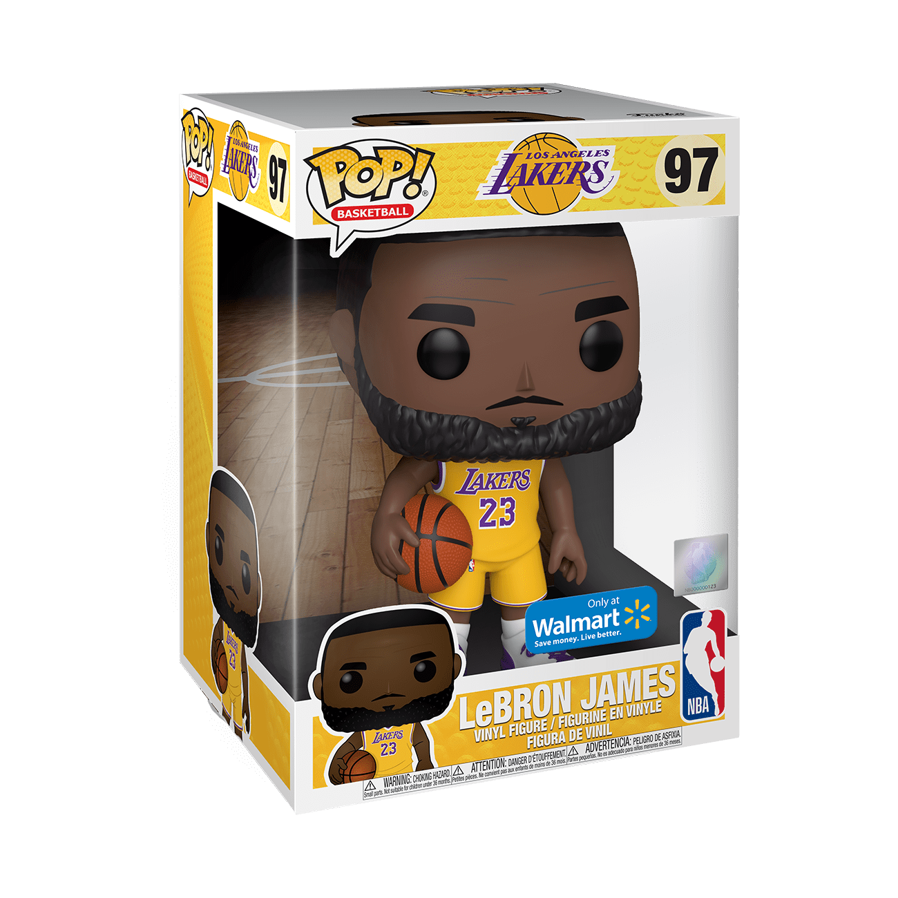 Funko Pop Nba Lakers 10 Lebron James Yellow Jersey Walmart Exclusive Walmart Com Walmart Com