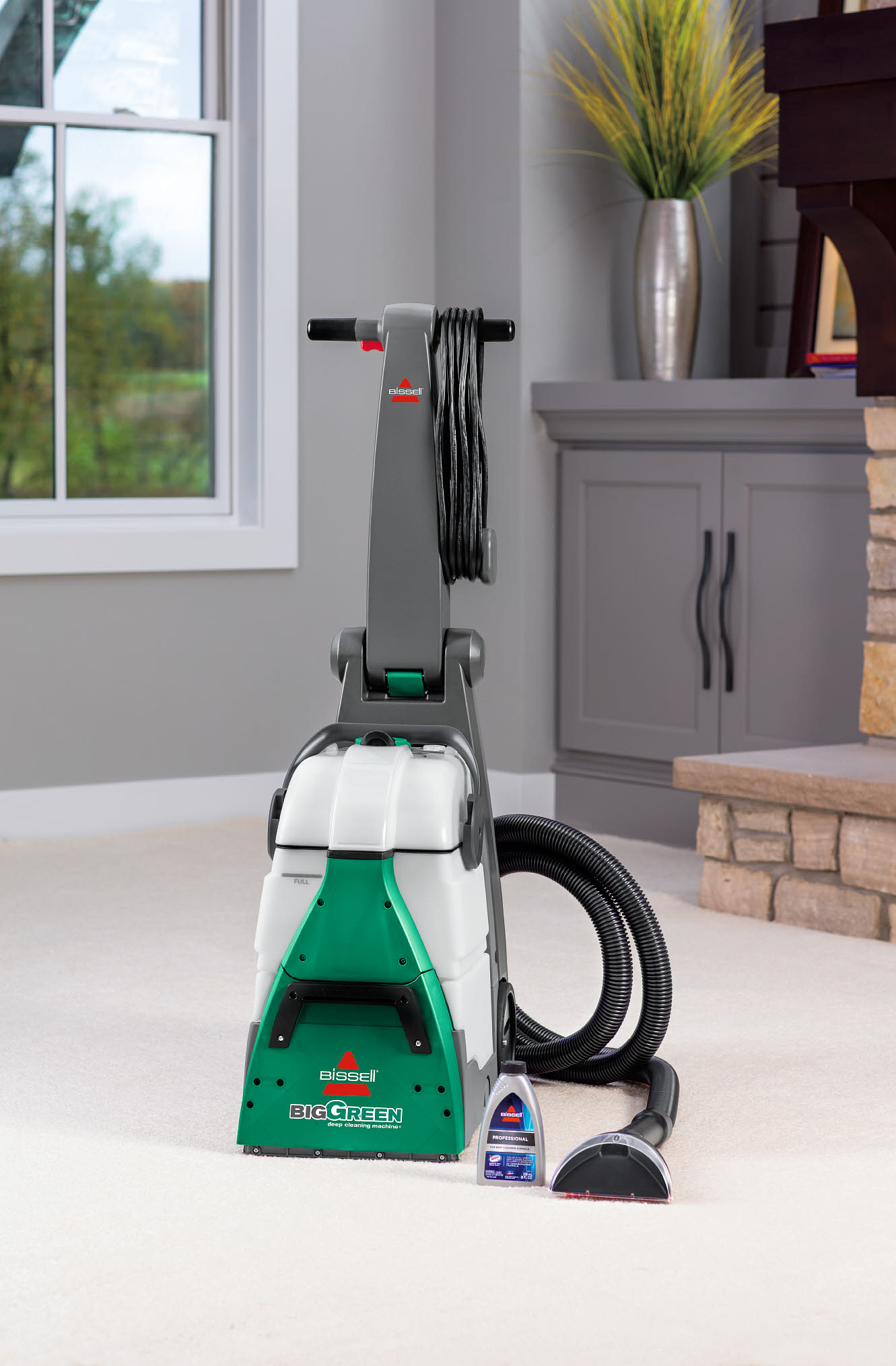 Details About Bissell Big Green Machine Professional Carpet Cleaner 86t3 Cleaning Stairs New