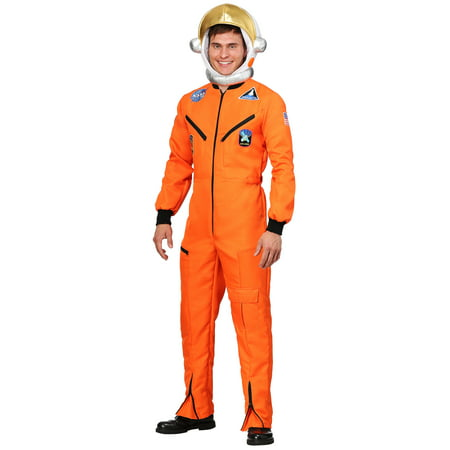 Adult Orange Astronaut Jumpsuit Costume - Orange Prison Jumpsuit