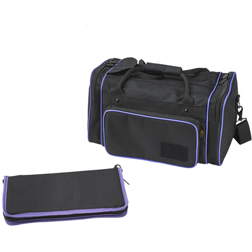 US Peacekeepers Medium Range Bag, Black/Purple