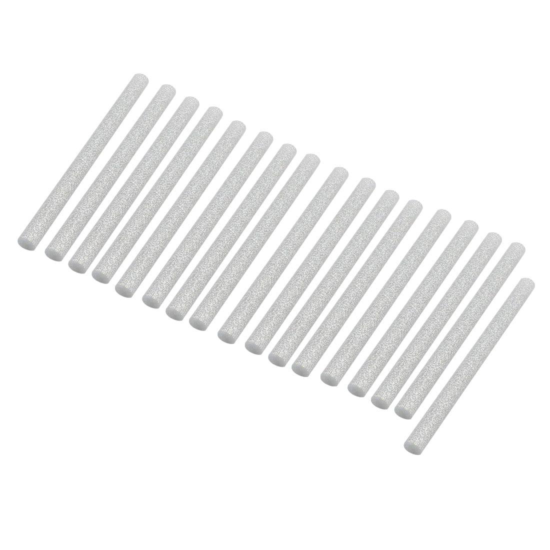 17pcs 7mm x 100mm Hot Melt Glue Sticks Silver Tone for DIY Small Craft Projects