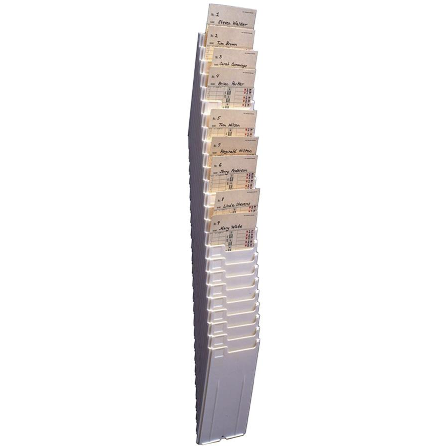 Acroprint 25-Pocket Expanding Time Card Rack, Plastic, Black by Acroprint Time Recorder Company