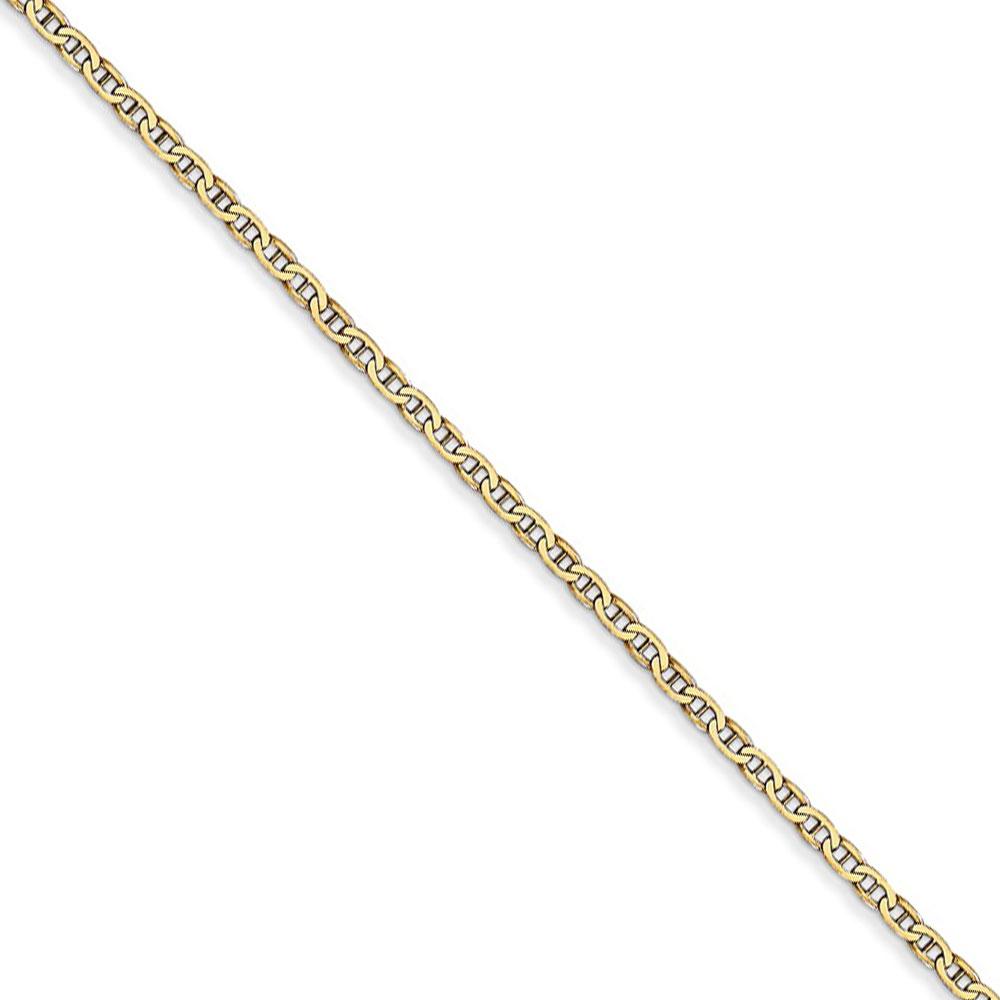 Brilliant Bijou 14k White Gold .90mm Parisian Wheat Chain Bracelet