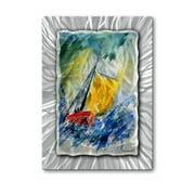 All My Walls POL00234 Sailing Boat Metal Hanging Art