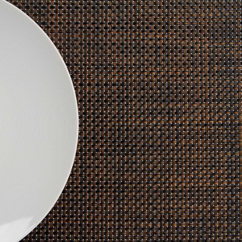 Riegel Vinyl Hotel Quality Placemat, Basket Weave Design, 4-Pack