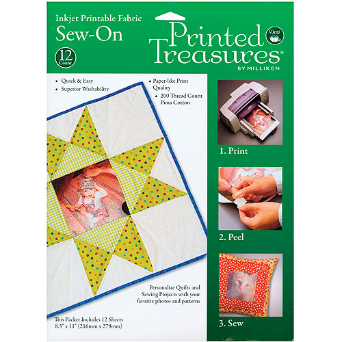 Printed Treasures Sew-On Ink Jet Fabric Sheets, White