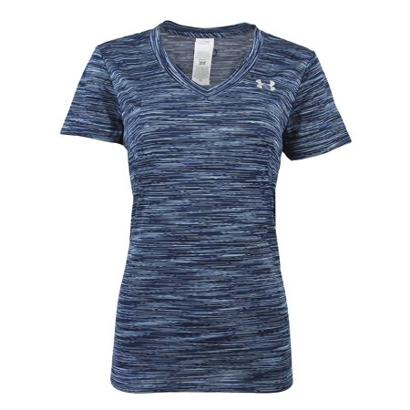 Under Armour - Under Armour Women s UA Tech Space Dye V-Neck Loose Fit  T-Shirt - Walmart.com 4f7c5b09bd