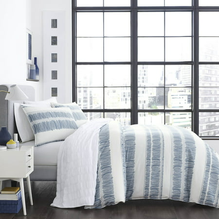 Blue Full Comforter (City Scene Enzo Blue Comforter Set, Full/Queen )