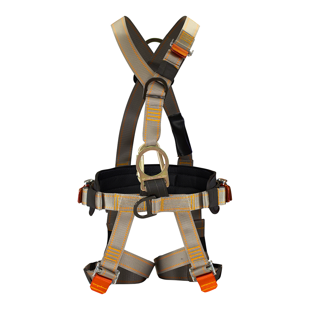 Fusion Climb Plemistis High Strength V-Style Padded Commercial Zipline Harness 23kN M-XL Coyote Brown