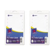 Avery 5202 - Print or Write File Folder Labels, White - 252 Labels - pack of 2