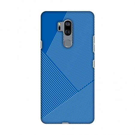 - LG G7 Case, LG G7 ThinQ Case, Slim Fit Handcrafted Designer Printed Snap on Hard Shell Case Back Cover for LG G7 ThinQ - Carbon Fibre Coral Blue 1