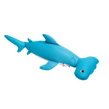 Blue Wave Hammerhead Shark Bean Bag Float For Swimming