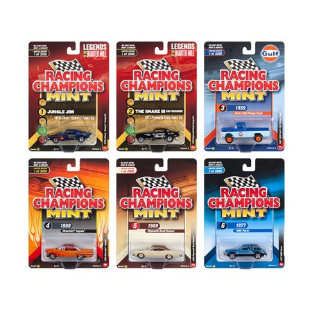 2018 Mint Release 2 Set B of 6 Cars 1/64 Diecast Models by Racing Champions (Danbury Mint Diecast Cars)